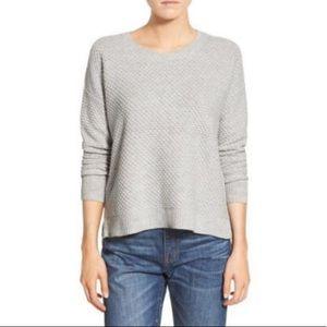 Gray MADEWELL Landmark Textured Sweater Sz L